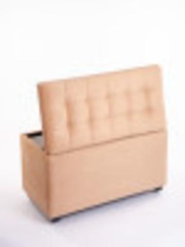 Пф-800-Я Пуфик квадратный (персиковый) с ящиком для хранения