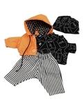 Костюм с курткой - Оранжевый. Одежда для кукол, пупсов и мягких игрушек.