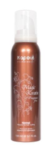 Мусс для укладки волос нормальной фиксации с кератином,Kapous Magic Keratin,150 мл