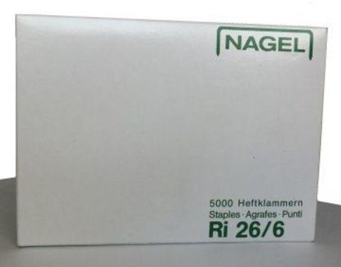 Скобы NAGEL 26/6 RI (упаковка - 5000 шт.) от 2 до 20 листов (NAG1005Ri/NAG1007)
