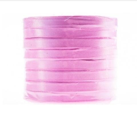 Лента атласная (размер: 10 мм х 50 ярд) Цвет: светло-розовый