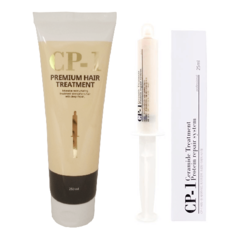 Протеиновая маска для лечения и разглаживания повреждённых волос ESTHETIC HOUSE CP-1 Ceramide Treatment Protein Repair System