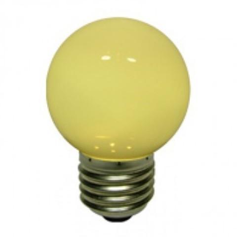 Светодиодная лампа - шарик, 1,5 Вт, Е27, теплая белая.