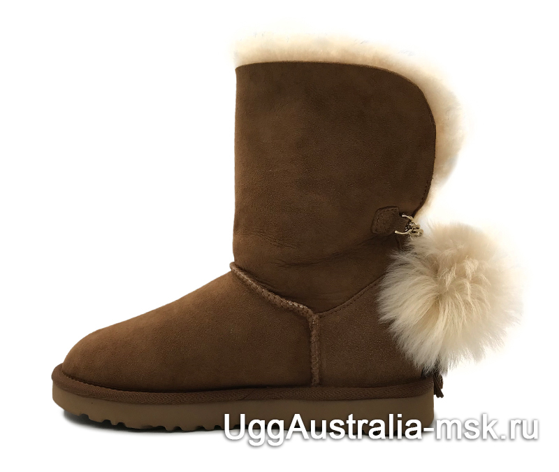 UGG Charm Hell Hair Ball II Pom Brown