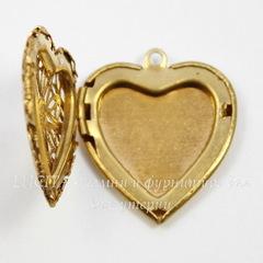 Винтажный декоративный элемент - филигранный медальон