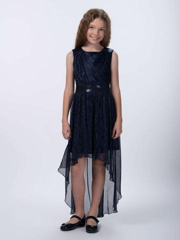 Удлиненное нарядное платье (арт.29029)