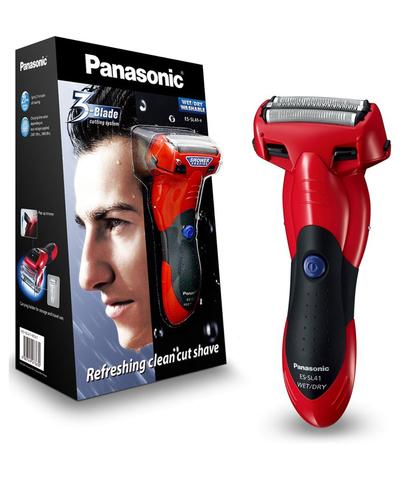 Бритва сетчатая Panasonic, реж.эл.:3, аккум, красная