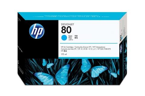 Оригинальный картридж (печатающая головка) струйный HP C4821A 80 голубой