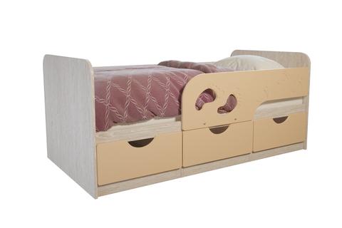Кровать Минима Лего 1,86 дуб атланта/крем-брюле
