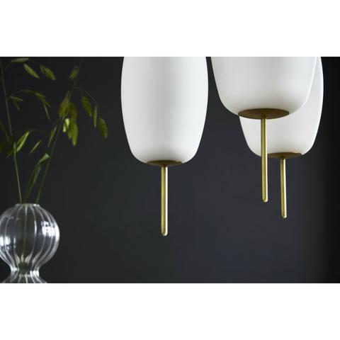 Лампа подвесная Silk, D22 см, белое опаловое стекло