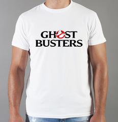 Футболка с принтом Охотники за привидениями (Ghostbusters) белая 003