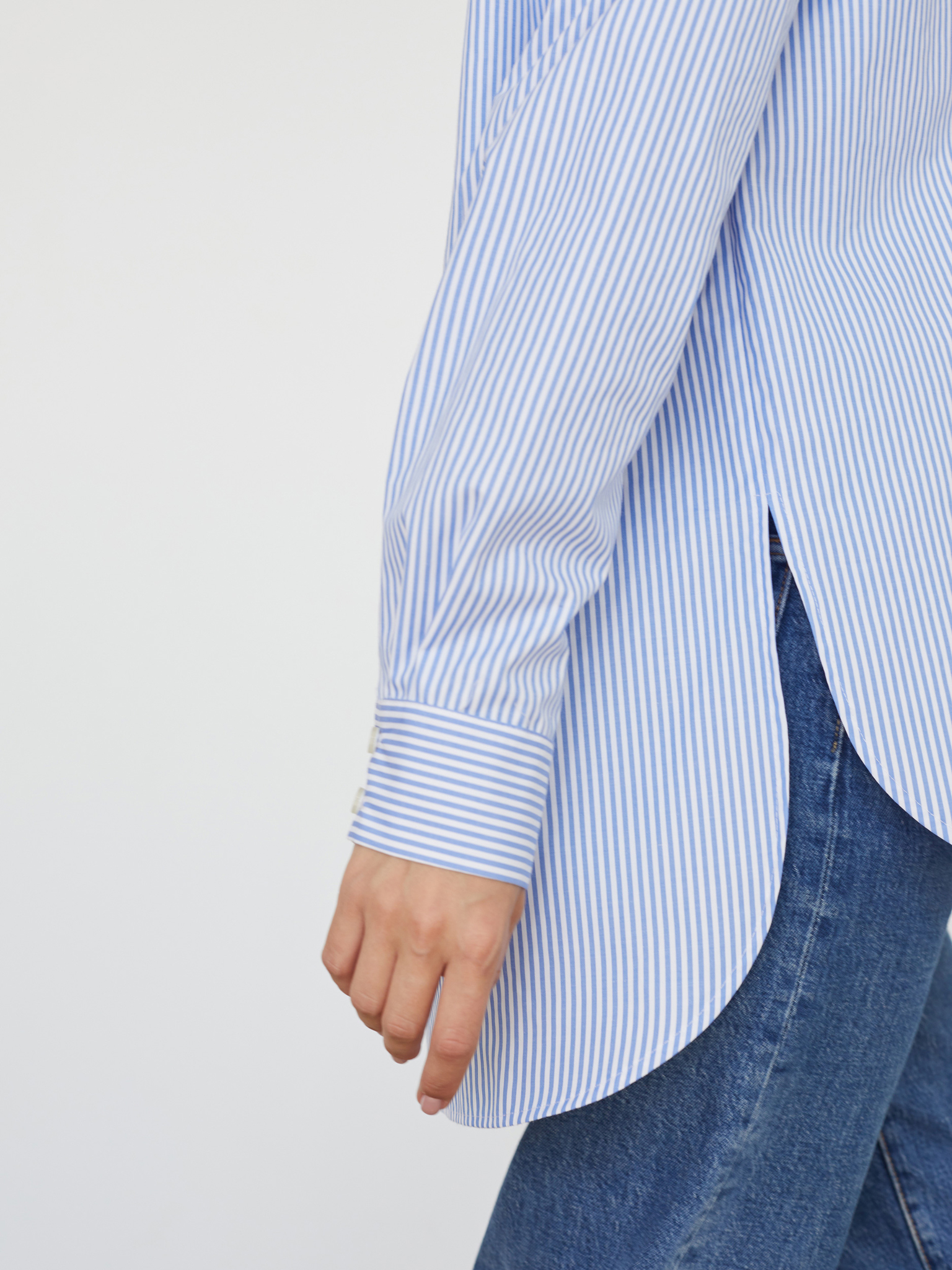 Рубашка в полоску oversize