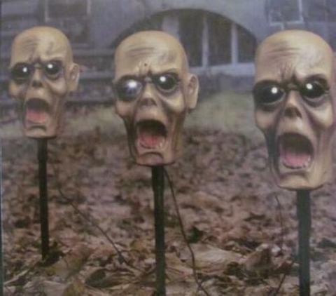 Ужасы анимированные головы