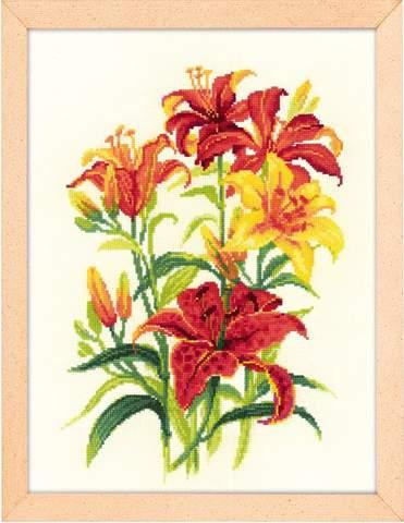 Набор для вышивания крестом «Солнечные лилии» (1782)