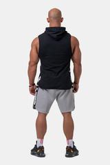 Мужская майка c капюшоном Nebbia Legend-approved hoodie tank top 191 BK