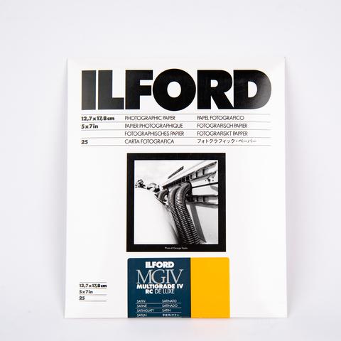 Фотобумага Ilford MG IV RC, 12,7 x 17,8 см, сатин, 25 листов