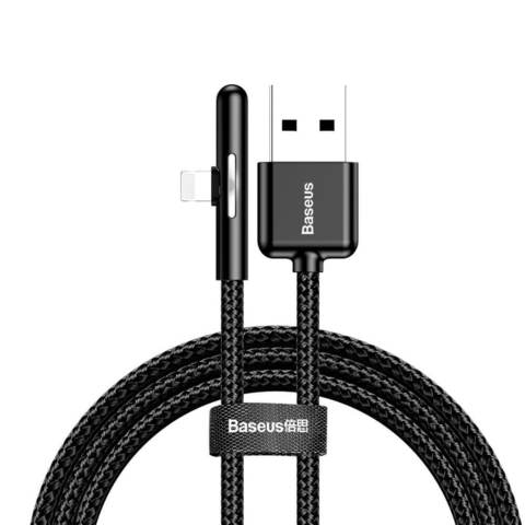 Кабель Baseus Iridescent Lamp Mobile Game Cable USB For iP 2.4A 1m Black