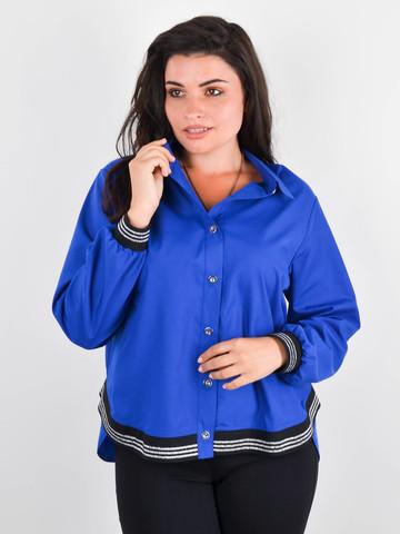 Диана. Оригинальная женская рубашка плюс сайз. Электрик.