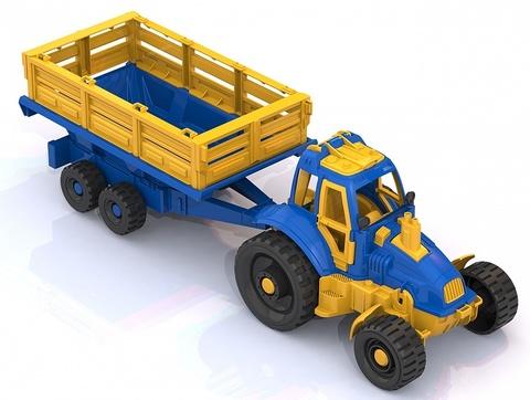 Трактор с прицепом, Нордпласт, 396