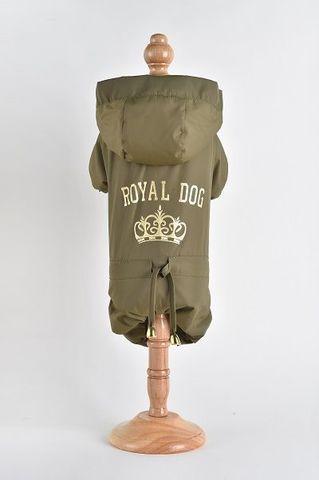 Royal Dog Дождевик флисовый с надписью хаки размер M