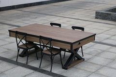 Комплект 2 в 1 «Superior» — аэрохоккей +обеденный стол 7 ф + 4 стула