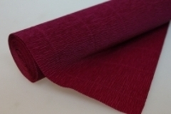 Бумага гофрированная простая темно-малиновая (584)