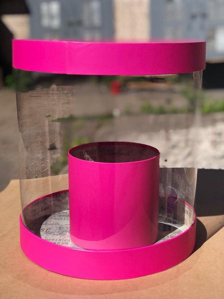Коробка аквариум 32см Цвет : Фуксия . Розница 600  рублей .