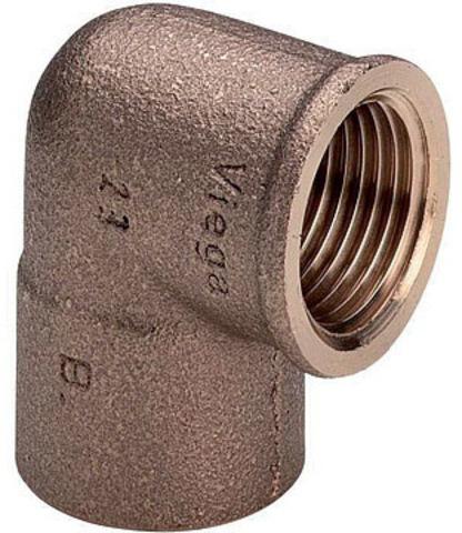 Viega угольник бронзовый 22х1