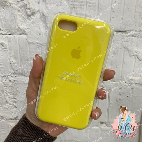 Чехол iPhone SE Silicone Case /canary yellow/