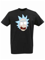 Футболка с принтом мультфильма Рик и Морти (Rick and Morty) черная 002