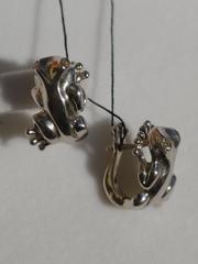 Лягушата (серьги из серебра)