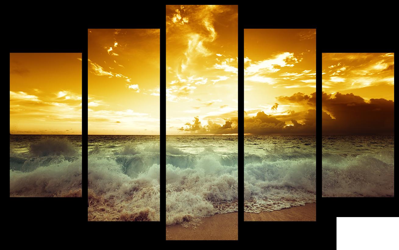 """Природа Модульная картина """"Морской закат"""" М999.png"""