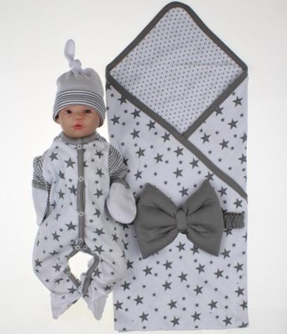 Комплект на выписку для новорожденных Лето белый
