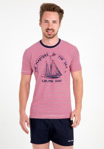 Летняя мужская футболка с кораблем