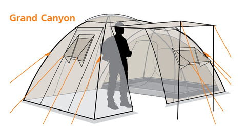 Палатка Canadian Camper GRAND CANYON 4, цвет forest, схема 2.