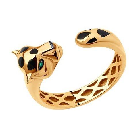 3010579 - Кольцо Пантера из золота с изумрудами