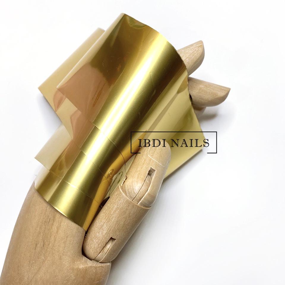 Фольга для дизайна ногтей МАТОВОЕ ЗОЛОТО