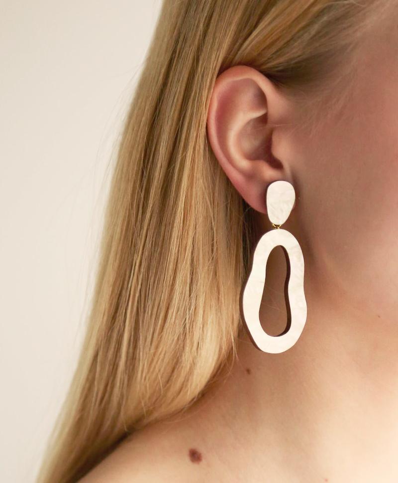 Серьги-Lake-Earrings-Mother-of-Pearl
