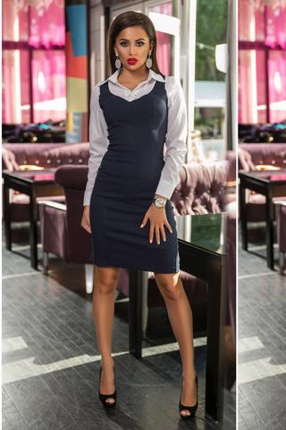 Платье-футляр 2 в 1, джинсовое миди 1