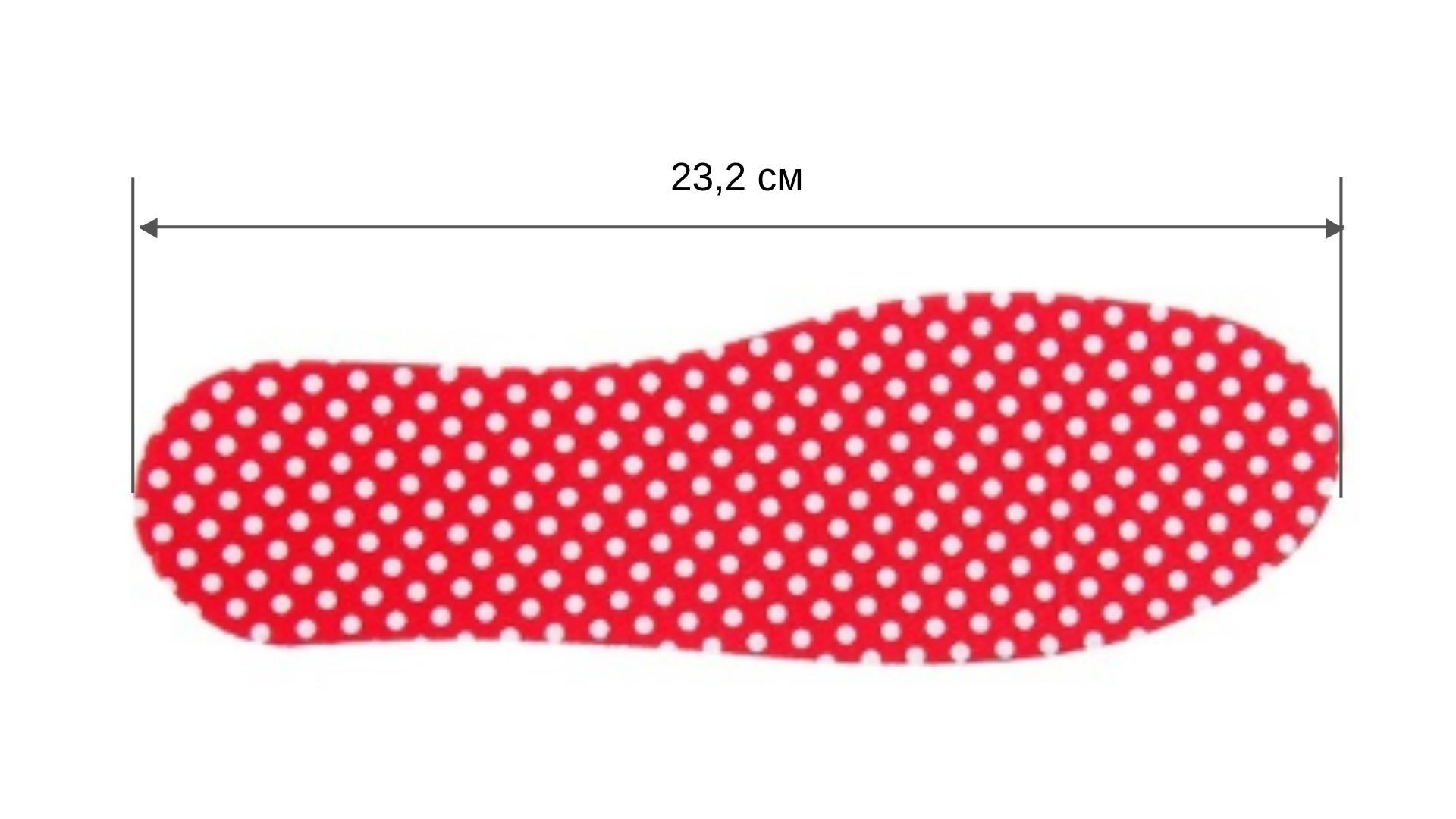 Стельки для детской обуви в горошек