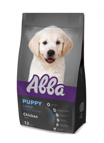АBBA Puppy Large корм для щенков крупных пород, с курицей 12 кг.