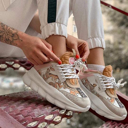 Versace Chain Reaction Beige/White