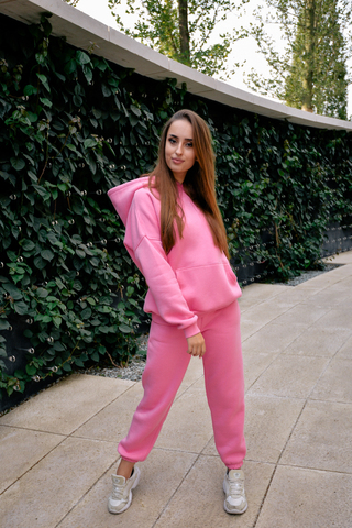 Спортивный костюм на флисе розовый купить