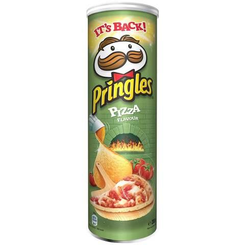 Чипсы Pringles Pizza Big Size Принглс со вкусом пиццы 200 гр