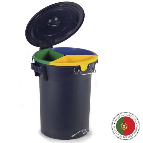 Бак с педалью для раздельного сбора мусора ECO 52л