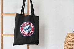 Сумка-шоппер с принтом FC Bayern München (ФК Бавария) черная 001
