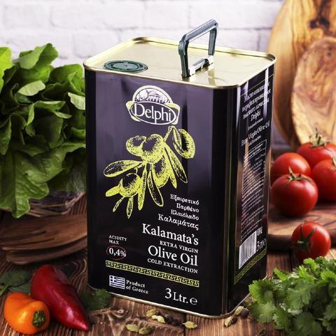 Масло оливковое Греция, первый отжим, жестяная банка КОЛБАСЫ ИП БАБЕШКИНА 3л