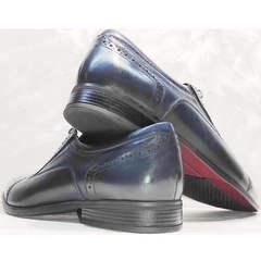 Туфли броги мужские Ikoc 3805-4 Ash Blue Leather.