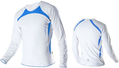 Футболка Noname Running Top 2011, белый-синий