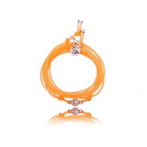 Каучуковый браслет с кристаллом Swarovski